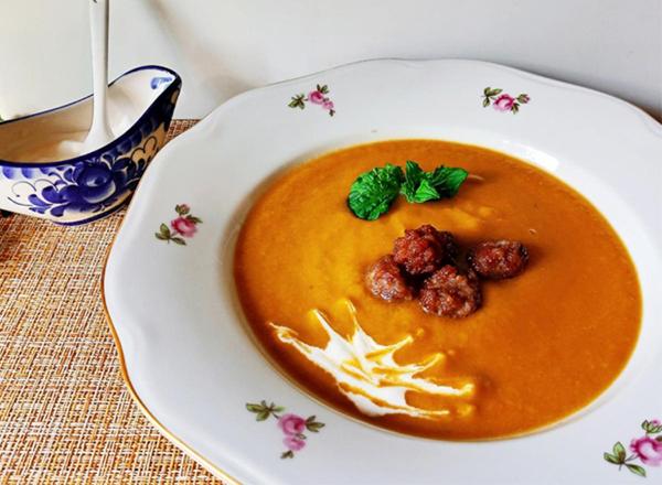 Кето суп с фрикадельками